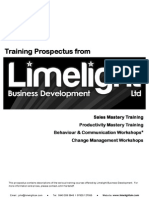 Limelight Training Prospectus