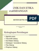 Teknik Dan Etika Persidangan