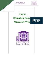 CURSO Ofimatica I MS Word Apuntes
