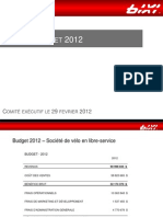 Budget Bixi 2012
