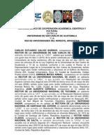 Convenio de Cooperación entre la USAC y la Red Universidades Del Noreste (Argentina)