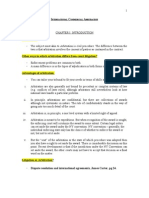 International Commercial Arbitration Outline