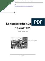 Le Massacre Des Suisses 10 Aout