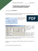 Como Configurar Um Arquivo Para Tcc