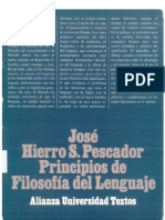 Principios de filosofía del lenguaje - José Hierro