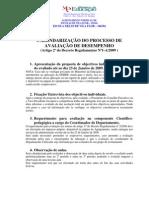 Calendarização do processo de avaliação de desempenho - Simplex 2