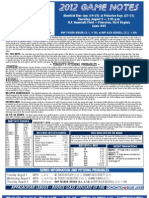 Bluefield Blue Jays Game Notes 8-9