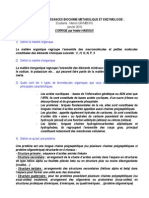 BIOCHIMIE METABOLIQUE ET ENZYMO - Sujet et Corrigé H.Haidous