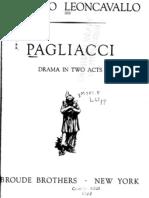 I Pagliacci (Full Orchestral & Voice Score)