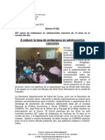 Boletín 062_A reducir la tasa de embarazos en adolescentes caucanas