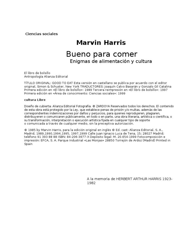 Harris Marvin Bueno Para Comer