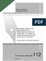 RELAÇÕES EXECUTIVOLEGISLATIVO NO Presidencialismo de colisão -FernandoMoutinho