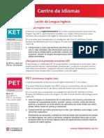 Examenes de certificacion ingles - ibero