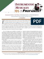 """¿Hay Instrumentos Musicales Santos y Profanos? - Análisis Crítico Al Vídeo """"El Creador de los Instrumentos"""" de la serie """"El Poder Oculto de la Música"""" de Oliver Coronado"""