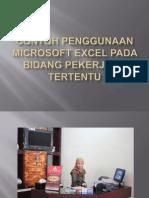 Contoh Penggunaan Microsoft Excel Pada Bidang Pekerjaan Tertentu