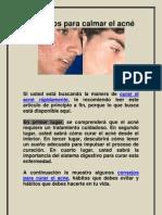 Consejos para calmar el acne