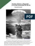 Bombardeo atómico a Nagasaki-Otro crimen de lesa humanidad de EE.UU