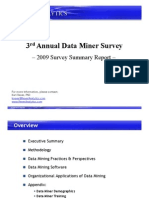 3rd Annual Data Miner Survey