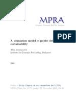 MPRA_paper_11713 a Simulating Model Debt Sustainab - Albu