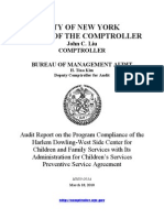 Program Compliance of Harlem Dowling-West Side Center for Children and Family Services With ASC Agreement