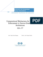 Computational Mechanisms for Norm Enforcement in Service-Oriented Architecture