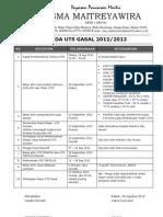 Agenda Uts Gasal 12-13