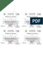 YF Certificate