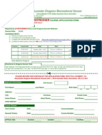 Refresher Referee Course Application