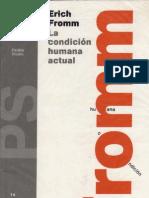 La condición humana actual - Fromm