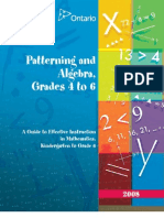 y Guide Patterning and Algebra 456