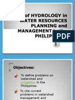 Role of Hydrology in Water Resources Planning And