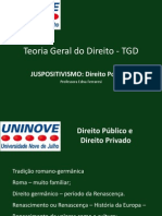 TGD Aula 3 Juspositivismo Direito Positivo