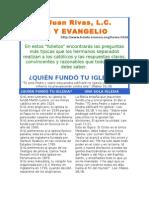 Quien Fundo Tu Iglesia 70070151 Rivas Juan Fe y Evangelio