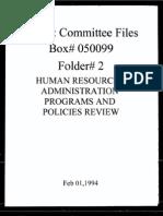 Box 050099 Folder 2 - Feb 1, 1994