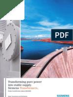 Siemens Power Transformers Above 200 MVA
