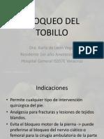 Bloqueo de Tobillo