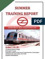 summrr training Dmrc Report