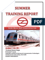 summrr training Dmrc Report