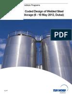 20120125_03!11!27API107- API 650 Coded Design of Welded Steel Tanks for Bulk Storage Course Outline
