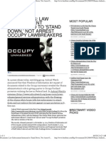 Law Enforcement Instructed to 'Stand Down,' Not Arrest Occupy L