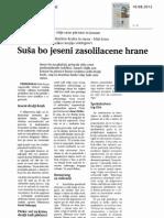 Primorske novice - suša in cena hrane - 10.8.2012
