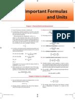 Important Formulas and Units