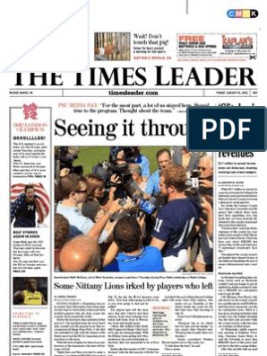 Times Leader 08-10-2012 | Driving Under The Influence