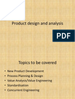 Product Design and Analysis