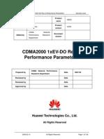 CDMA2000 1xEV-DO Rev.a Performance Parameters