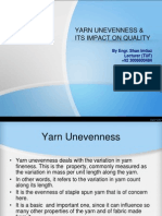 Yarn Unevenness and Its Impact on Quality