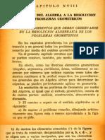 0d1cap 18 Aplicacion Del Algebra a La Resolucion de Problemas Geometricos
