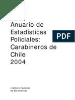 Carabineros de Chile Estadisticas Policiales INE 2004