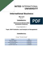 BOP statistic and analysis of bangladesh by taranga salehin