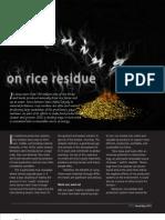 IRRI AR 2011 - Running on Rice Residue